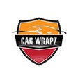 car wrap logo vector image vector image