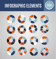 circle infographics set 5 vector image