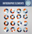 circle infographics set 5 vector image vector image