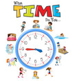 clock and activity time vector image