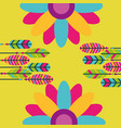 colored feathers flowers hippie retro free spirit vector image