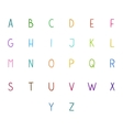 Colorful hand drawn full alphabet vector image vector image