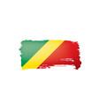 congo flag on a white vector image