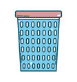 cute basket for dirty clothes design vector image