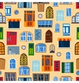 Doors seamless pattern vector image