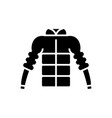 down jacket icon black sign vector image