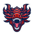 dragon head mascot angry vector image vector image