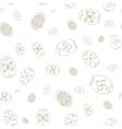 Easter seamless pattern Eggs design Easter vector image vector image