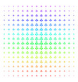 ecology man icon halftone spectral grid vector image vector image