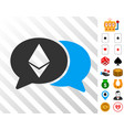 ethereum chat icon with bonus vector image vector image