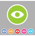 Eye watch visitor icon flat web sign symbol logo vector image