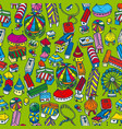 fair seamless pattern vector image vector image