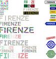 Firenze text design set vector image vector image