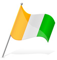 flag of Cote dIvoire vector image vector image