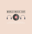 flat world music day background vector image vector image