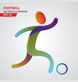 football color sport icon design template vector image