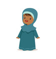 girl wearing national costume of uae islamic vector image vector image