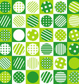 Green geometrical background with squared and vector image
