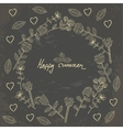 hand drawn floral template card vector image vector image