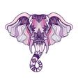 Head of a elephant boho design Indian God Ganesha vector image