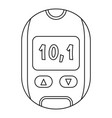 home glucometer icon outline style vector image vector image