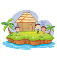 Island toilet vector image vector image