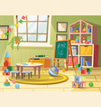 kid or children child boy room for play education vector image vector image