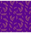 Leaves seamless pattern set vector image vector image