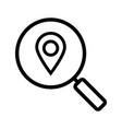 location search linear icon vector image vector image