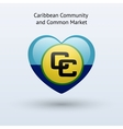 Love Caribbean Community and Common Market symbol vector image