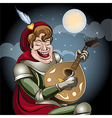 Minstrel with lute vector image vector image