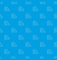 modern house pattern seamless blue vector image