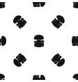 mushroom pattern seamless black vector image vector image