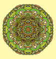 ornament hand drawn mandala colorful on light vector image