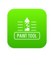 paint spray icon green vector image vector image