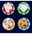 Poker icon color chips vector image vector image