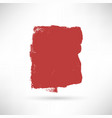 red isolated banner vector image