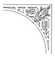 renaissance spanrail panel is a strapwork design vector image vector image
