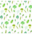 salad greens and leafy vegetables pattern vector image