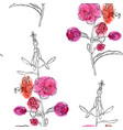 seamless pattern with flower willow herb vector image vector image