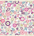 seamless pattern with flowers and leafs vector image vector image