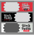 set black friday best sale horizontal layout vector image vector image