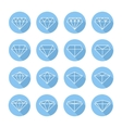 Set of diamond web iconssymbolsign in flat style vector image