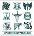 set of viking symbols icons vector image vector image
