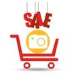 shopping cart sale camera icon vector image