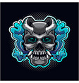 skull evil head mascot logo vector image