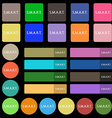 Smart sign icon Press button Set from twenty seven vector image vector image