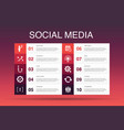 social media infographic 10 option templatelike vector image