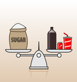 Soda and sugar vector image vector image