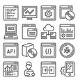 software and application programming icons set vector image